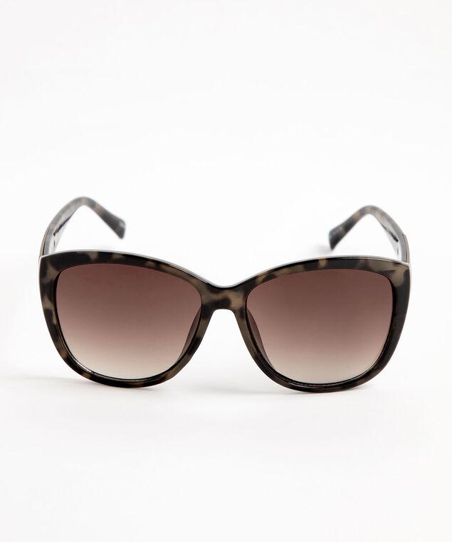 Large Bronze Tortoise Shell Sunglasses, Brown/Bronze