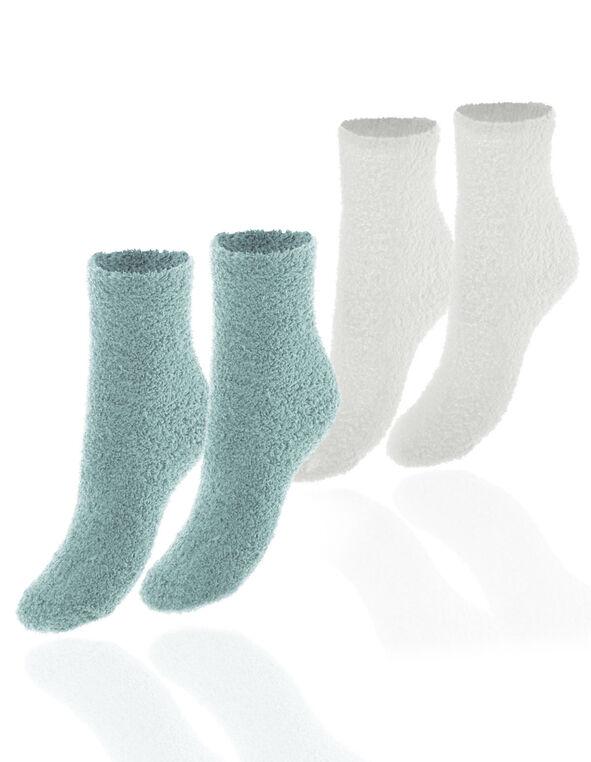Aqua Plush Sock Set, Aqua, hi-res