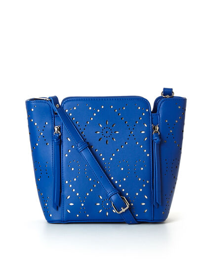 Cobalt Laser Cut Lady Bag, Cobalt, hi-res