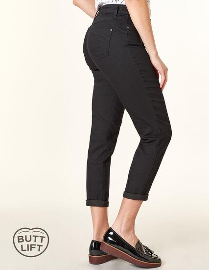 Black Butt Lift Slim Jean, Black, hi-res