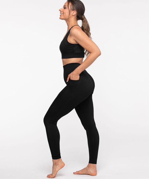 Side Pocket Active Legging, Black