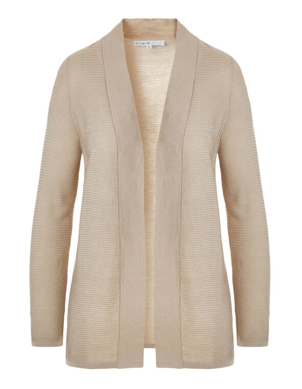 Stone Ottoman Mid Length Cardigan, Stone, hi-res