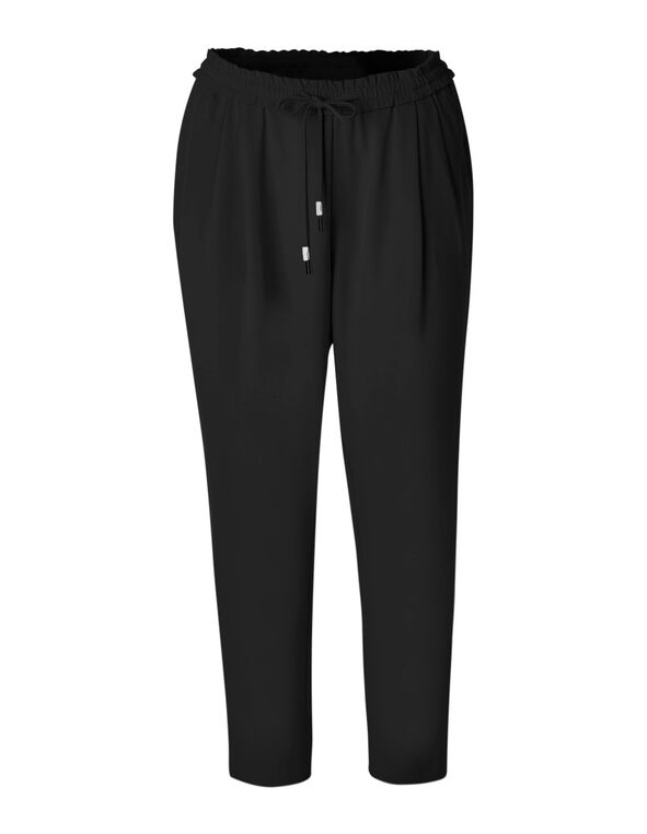 Black Soft Jogger Ankle Pant, Black, hi-res
