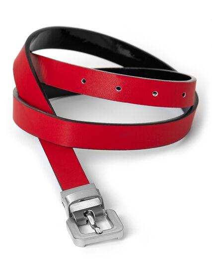 Black & Red Reversible Belt, Red/Black, hi-res