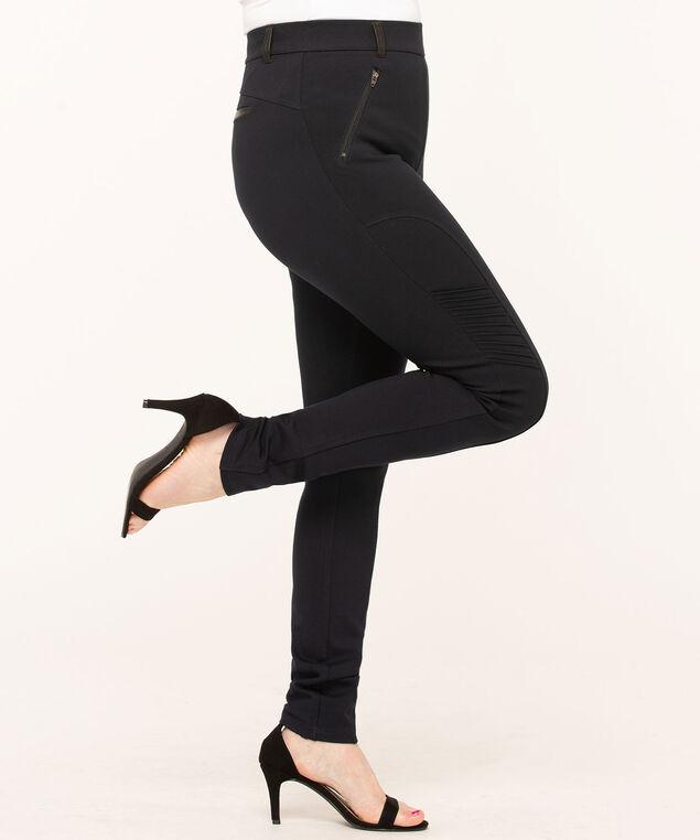 Navy Moto Style Legging, Navy