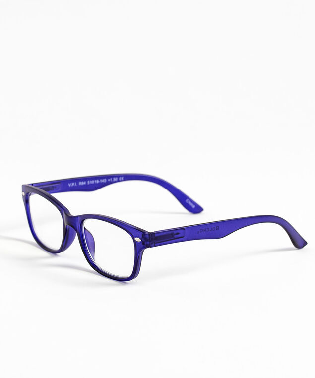 Square Blue Light Reader Glasses, Blue