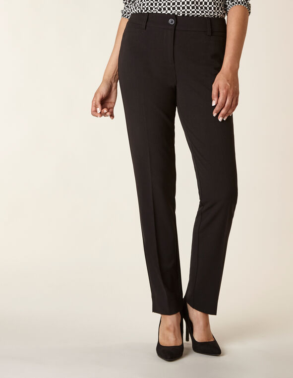 Black Soft Trouser Pant, Black, hi-res