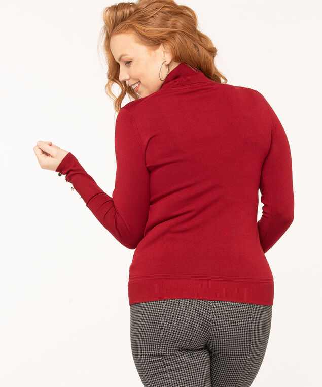 Long Sleeve Essential Turtleneck, Red, hi-res