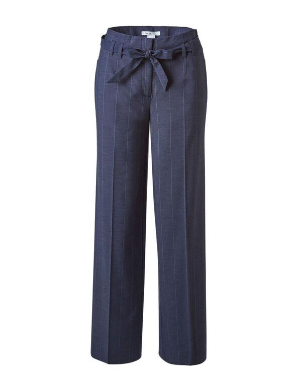 Navy Striped Wide Leg Pant, Navy, hi-res