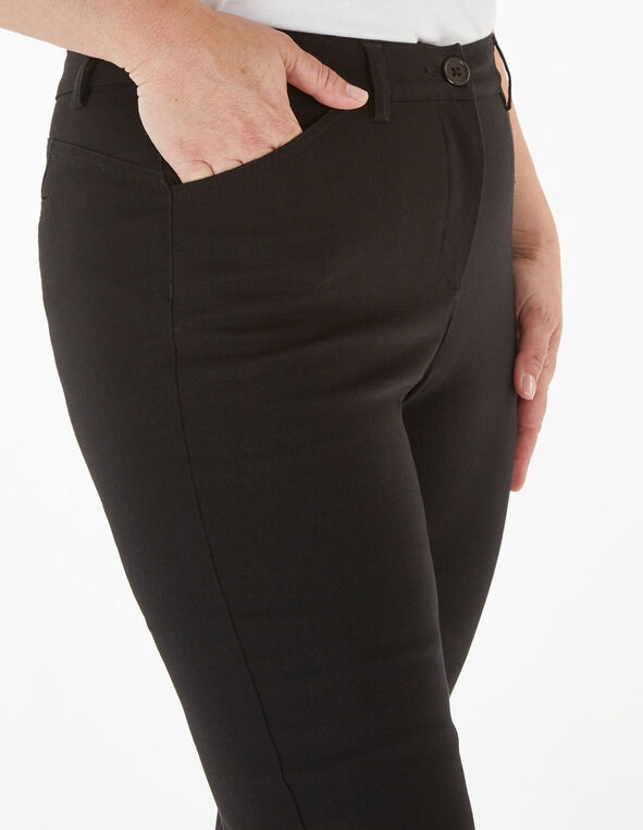 Black Butt Lift Slim Pant, Black, hi-res