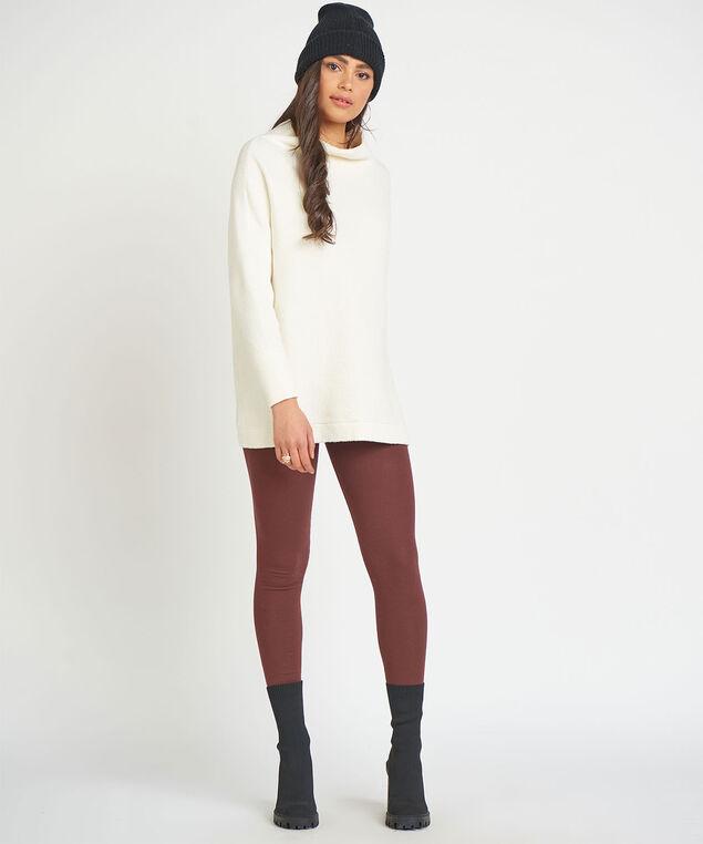 Dex Slouchy Tunic Sweater, Cream