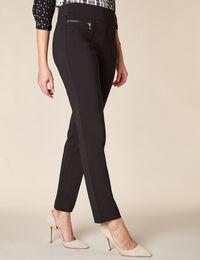 Black Zip Pull On Pant