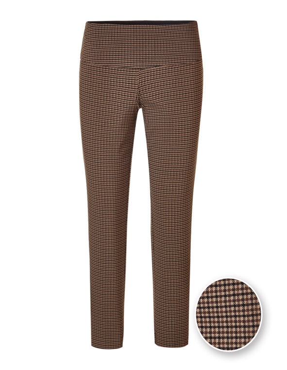 Plaid Slimming cleo Signature Pant ®, Brown, hi-res