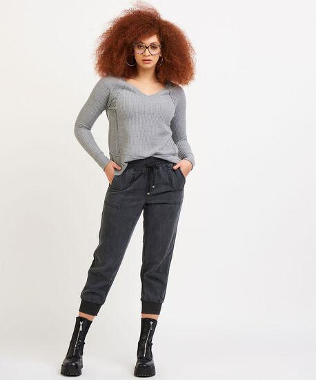 Dex Elastic Cuff Slouchy Jogger Pant, Dark Grey Wash, hi-res