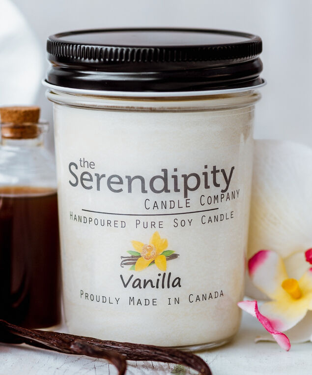 Vanilla Soy Candle, White