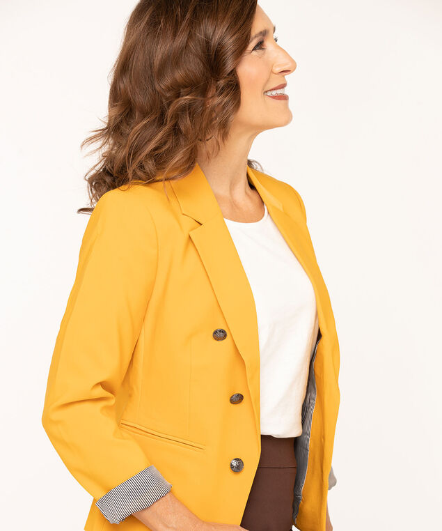 Gold Open Style Blazer, Gold, hi-res