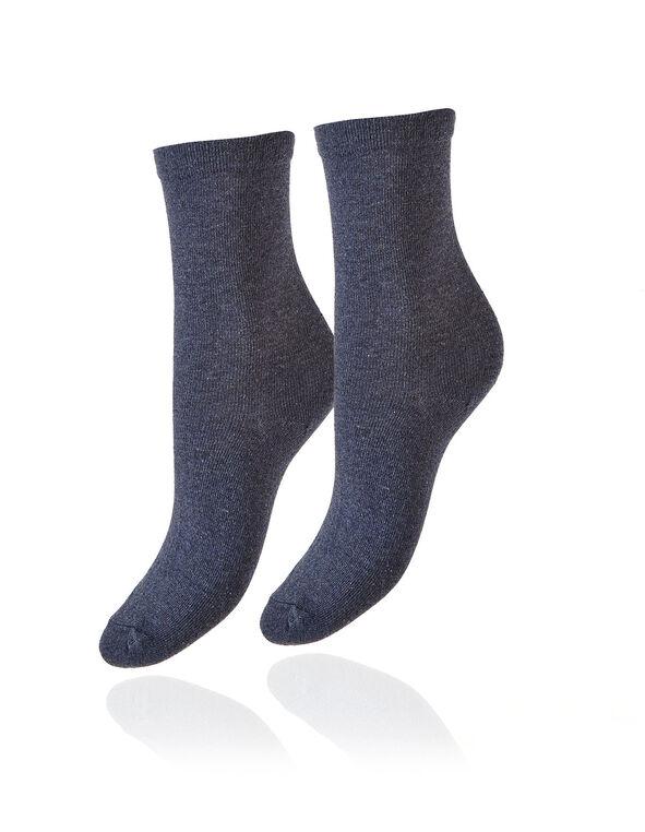 Blue Crew Sock, Blue, hi-res