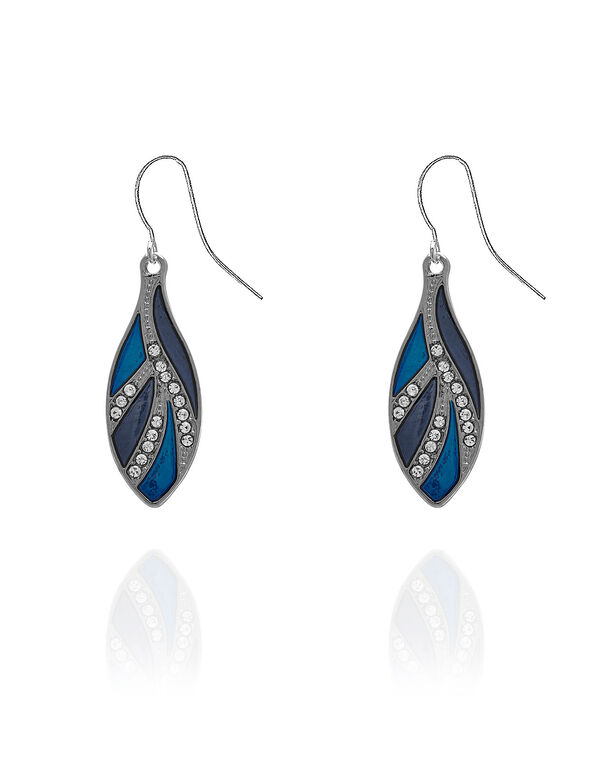 Blue Epoxy Earring, Blue, hi-res