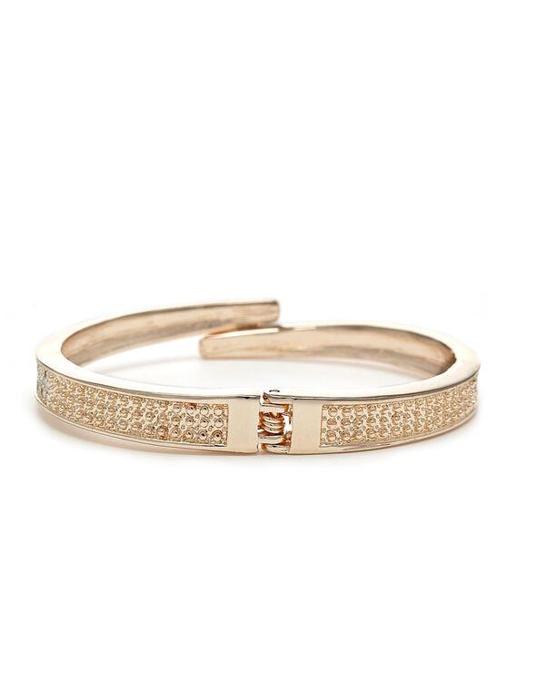 Rose Gold Hinge Cuff Bracelet, Rose Gold, hi-res
