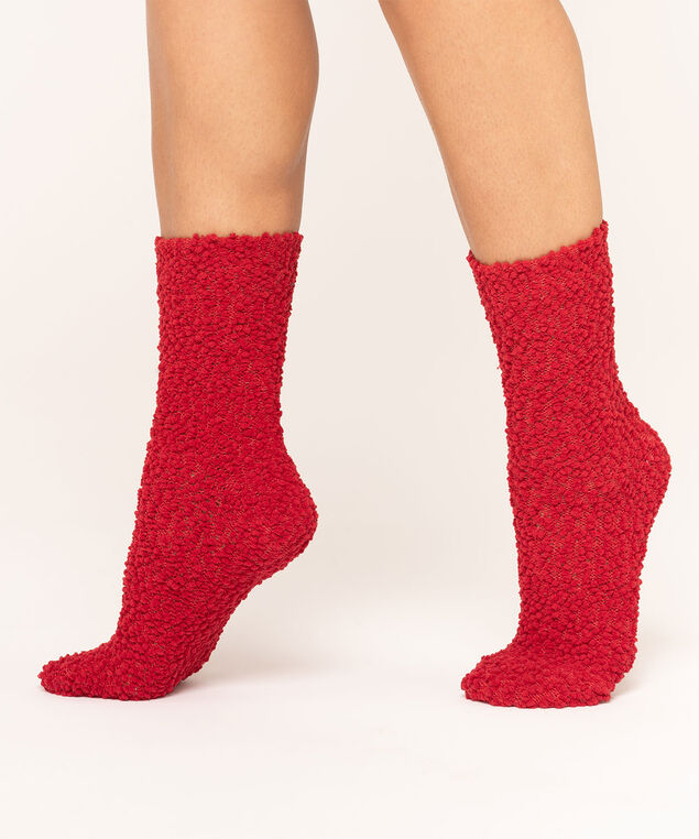 Red & Grey Nubby Sock 2-Pack, Red/Grey Mix, hi-res