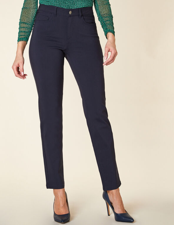 Navy 5-Pocket Slim Pant, Navy, hi-res