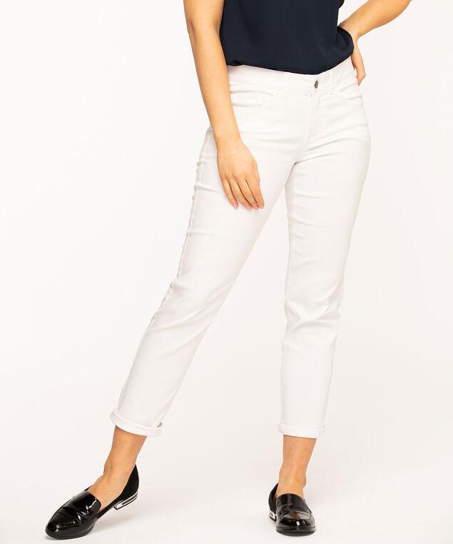 White Slim Leg Girlfriend Jean, White