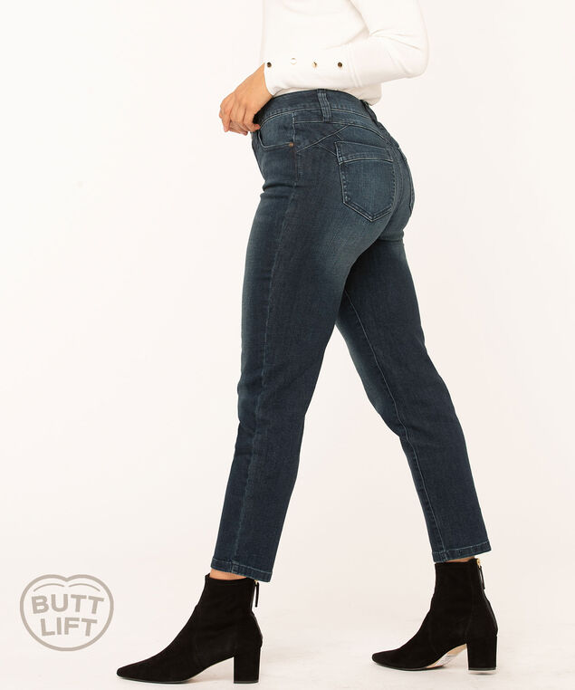 Vintage Wash Butt Lift Slim Jean, Blue