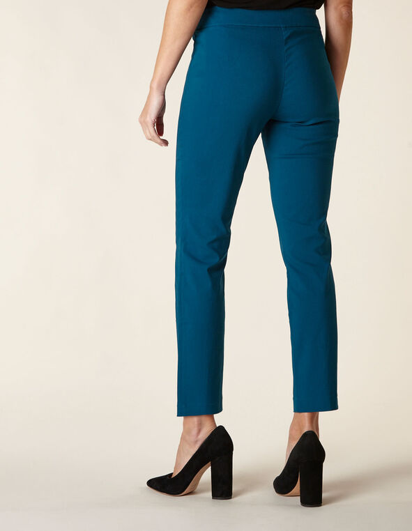 Teal Pull On Pant, Teal, hi-res