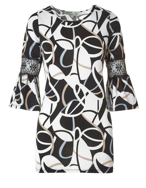 Neutral Swirl Printed Tunic, Neutral Pattern, hi-res
