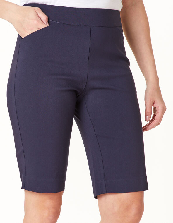 Navy Pull On Short, Navy, hi-res