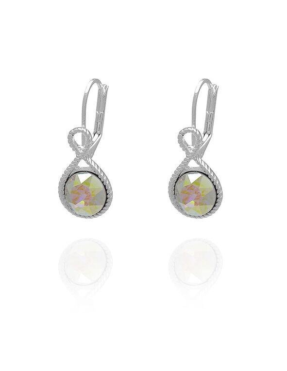 Aurora Genuine Crystal Drop Earring, Pink, hi-res