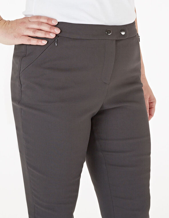 Gunmetal Skinny Leg Pant, Grey, hi-res