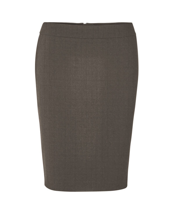 Brown Favourite Pencil Skirt, Brown, hi-res