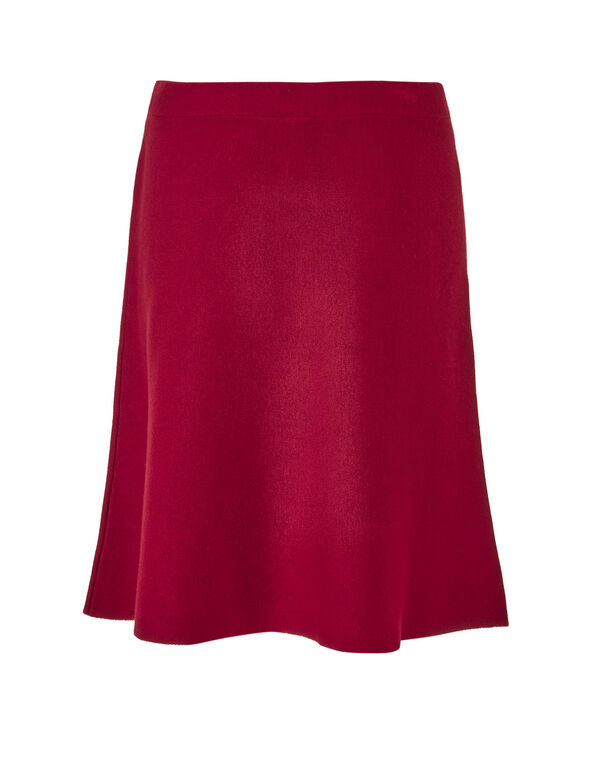 Winter Red Sweater Flippy Skirt, Winter Red, hi-res