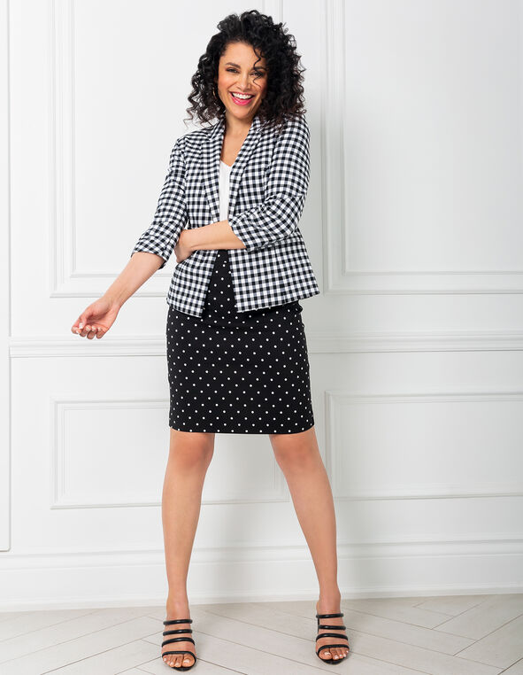 Polka Dot Pencil Skirt Look, , hi-res