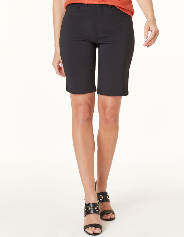 Black Slim Short, Black, hi-res