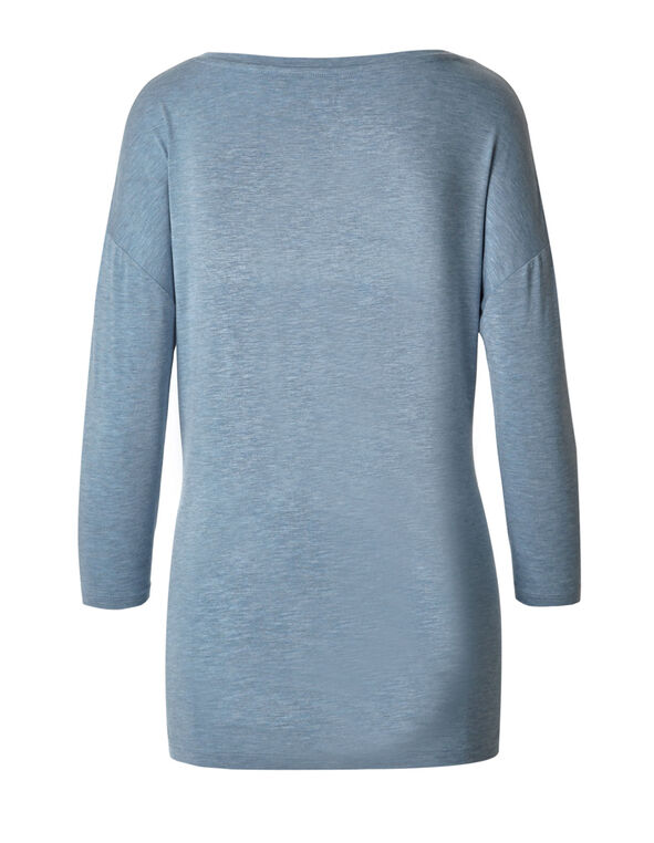Dusty Blue Drop Sleeve Tee, Dusty Blue, hi-res