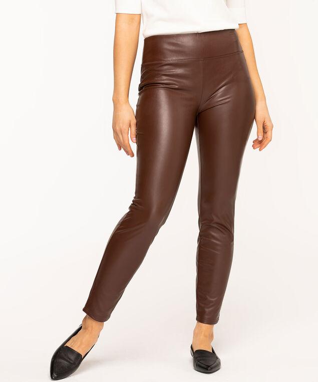 Vegan Leather Legging, Brown