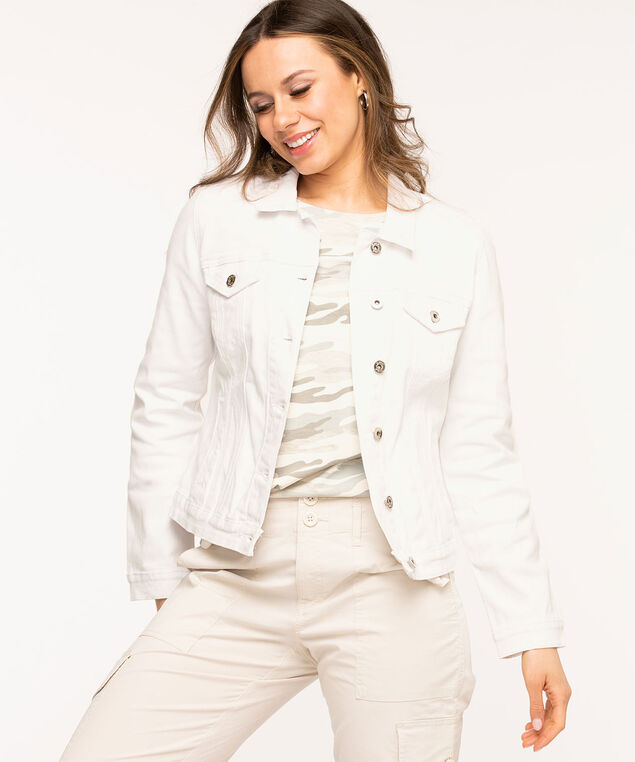 White Denim Jacket, White