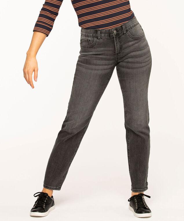 Black Slim Leg Girlfriend Jean, Black