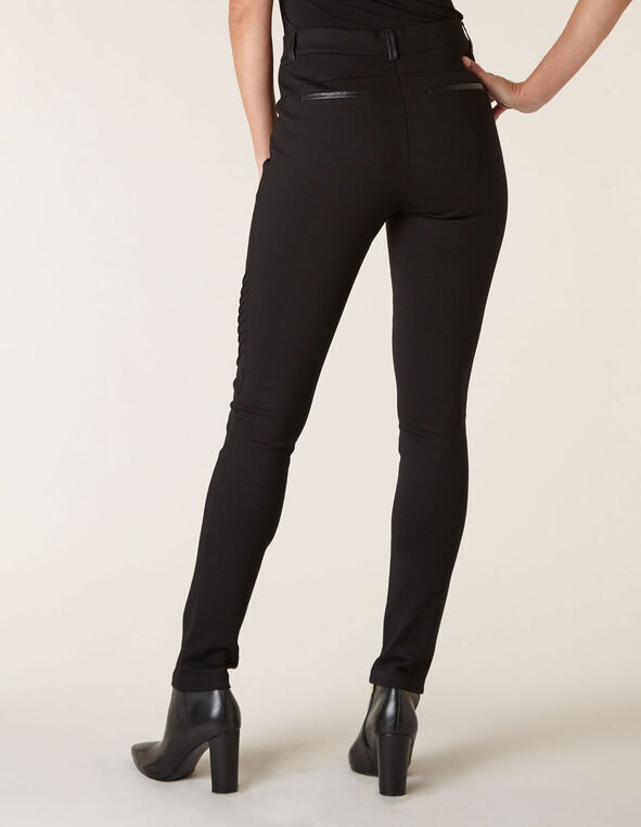 Black Moto Pull On Legging, Black, hi-res
