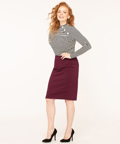 Mulberry Pull On Pencil Skirt, Mulberry, hi-res
