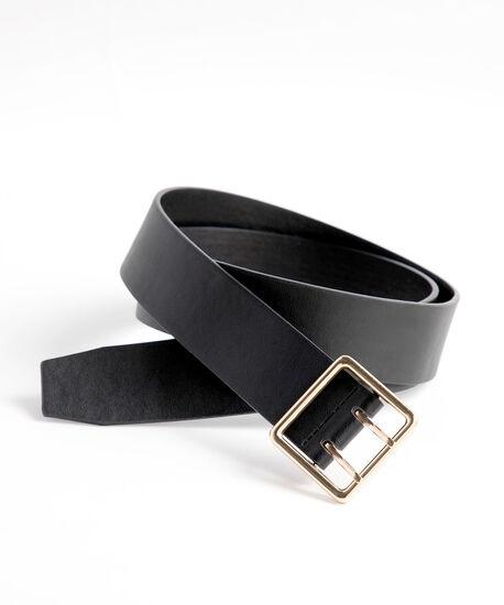 Double Prong Black Belt, Black, hi-res