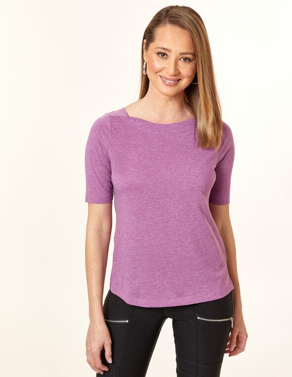 Violet Boatneck Tee, Purple/Violet, hi-res
