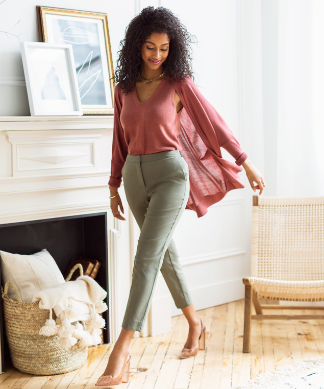 Olive Ankle Pant Look,