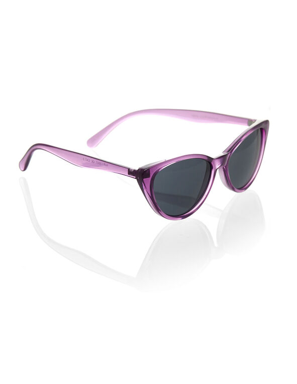 Purple Cat Eye Sunglasses, Purple, hi-res