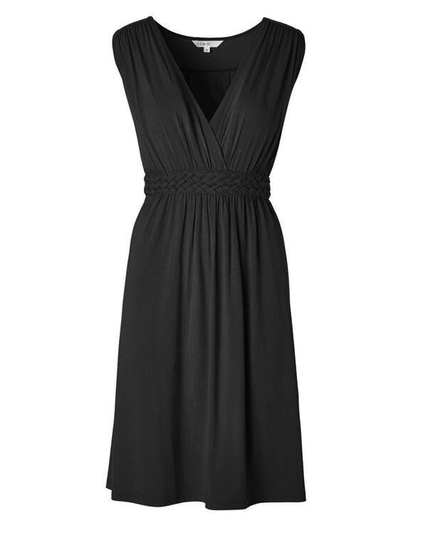Black Fit & Flare Dress, Black, hi-res