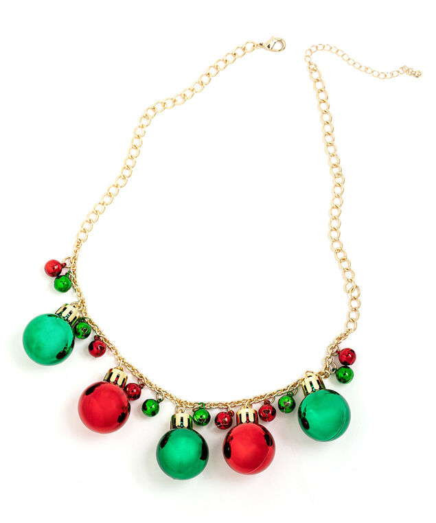 Jingle Bell Ball Necklace, Gold