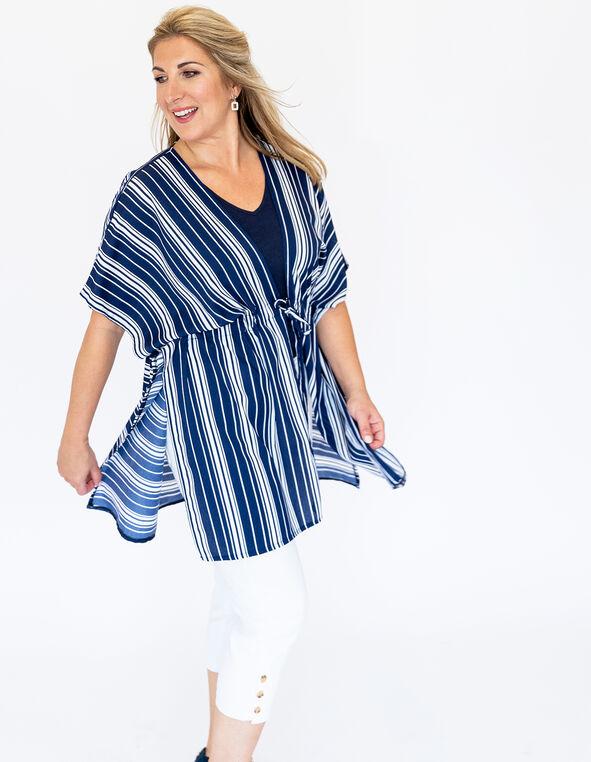 Stripe Kimono Look, , hi-res