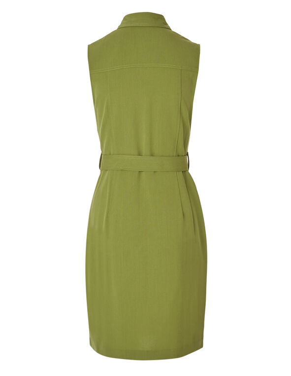 Green Cargo Zipper Front Dress, Green, hi-res
